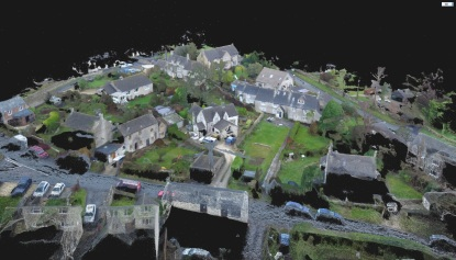 Photogrammetry drone scanning