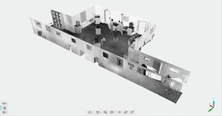 Initial scan of a gallery interior